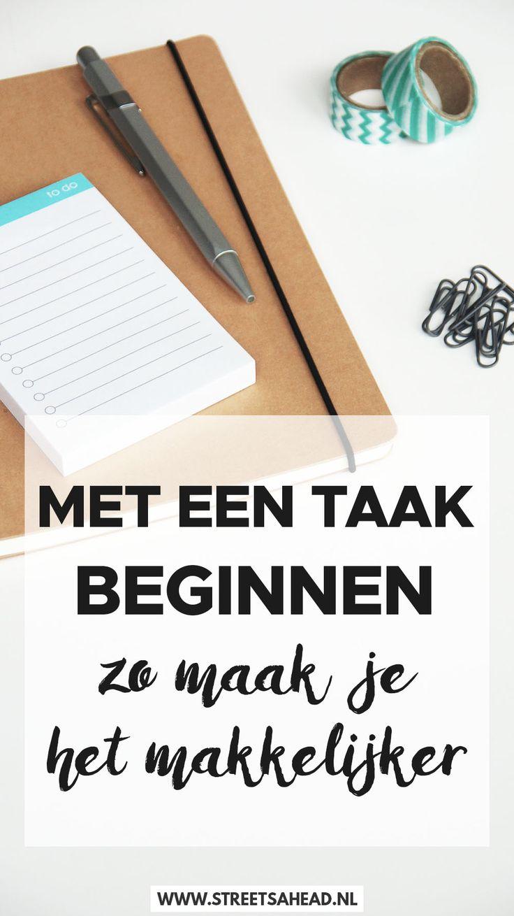Hoe begin je met een taak, en vooral als je geen zin hebt of eigenlijk niet zo goed weet hoe? Ik deel mijn tips met je, die het voor mij makkelijker maken om met een taak te beginnen. Bekijk het nu!