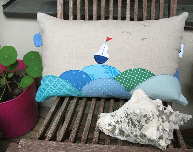 Love the Ocean fabrics together, look like fish scales!