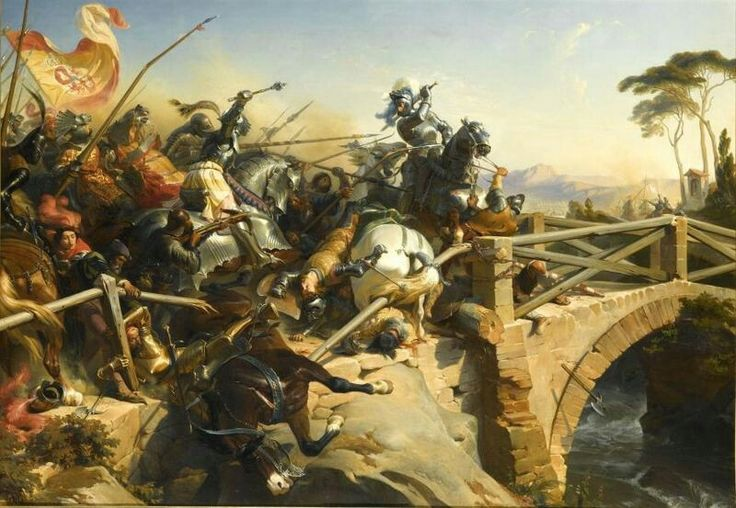 The Battle of Garigliano was fought on December 29, 1503 between a Spanish army under Gonzalo Fernández de Córdoba and a French army commanded by Ludovico II, Marquis of Saluzzo.    During the French retreat, Prospero Colonna and his horsemen made contact with the French at Scauri, but a courageous defence of a bridge by Chevalier Bayard allowed the French a safe retreat