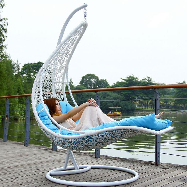 Outdoor outdoor swing rattan hanging basket hanging chair leisure chair moon boat hammock cradle rocking chair US $300.00