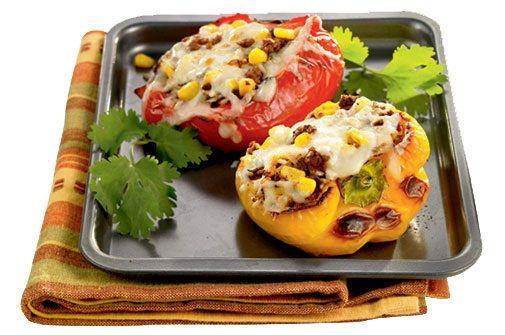 Chauds et épicés, ces poivrons farcis mettront de la couleur dans votre menu printanier.