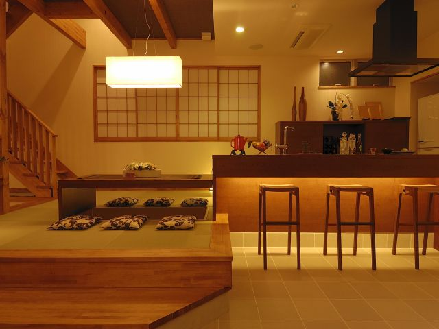 Japanese Style Cafe / 川口の和モダン住宅(カフェ空間)