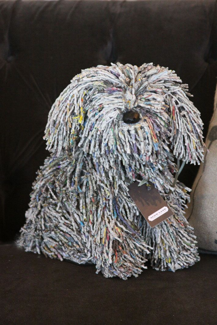 recycled paper dog