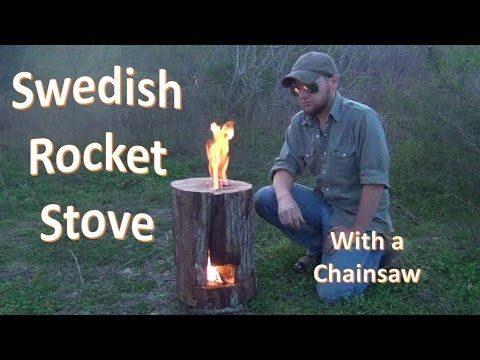 How to Build a SWEDISH JET STOVE (with a Chainsaw) - YouTube VERY INTERESTING!