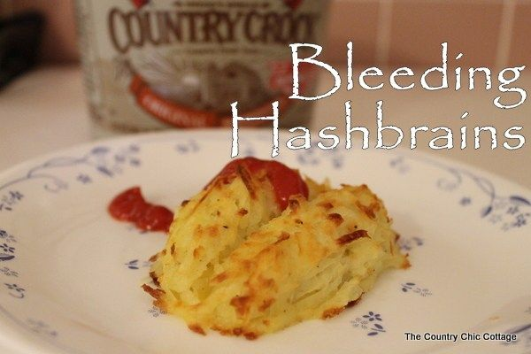 Make eating veggies fun for your kids! Bleeding Hashbrains with @countrycrock - The Country Chic Cottage https://www.thecountrychiccottage.net/bleeding-hashbrains-with-countrycrock/