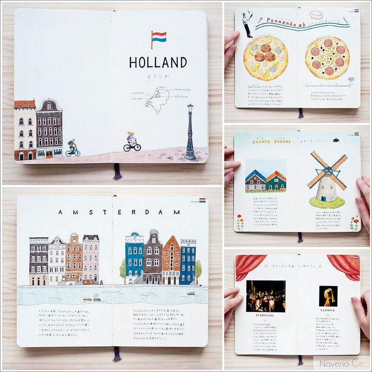 #Travel #journal | Los cuadernos de viaje de la ilustradora Yoshie Kondo