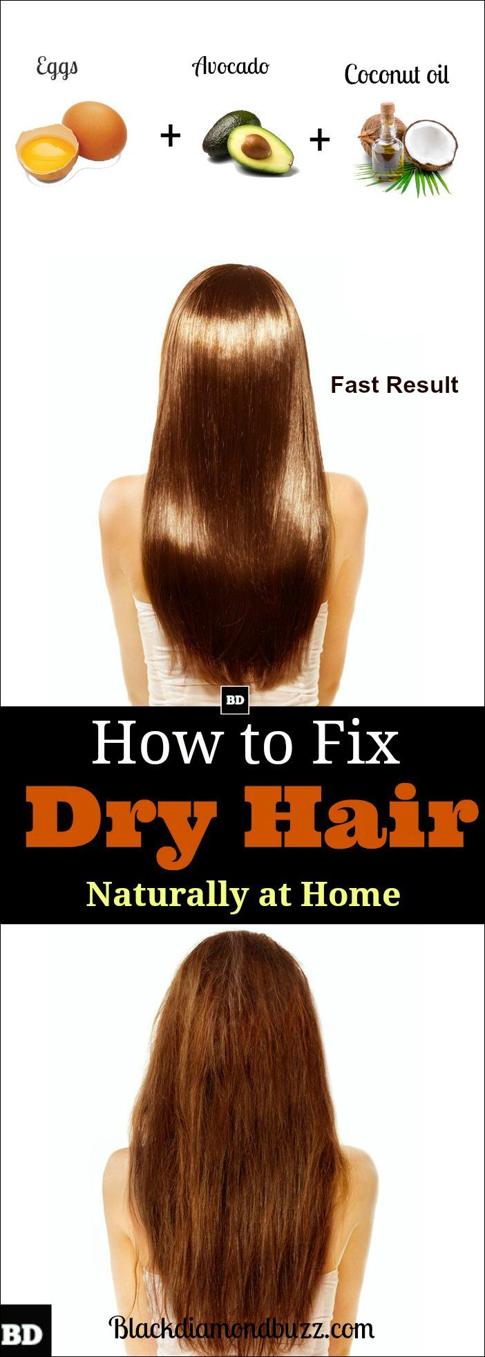 Dry Hair Remedies- You can fix your dry hair and frizzy hair naturally by applying these hair treatments at home. These DIY hair solutions will make your hair healthy and shiny.Try now these best home remedies for dry hair and get rid of frizzy overnight.