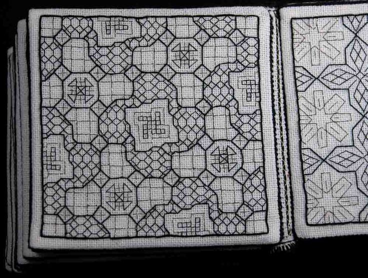 OK - Fils et Aiguilles... une Passion: Blackwork : Queene Besse's Chesse Boarde - 7 pages - Links to pgs at bottom of pg