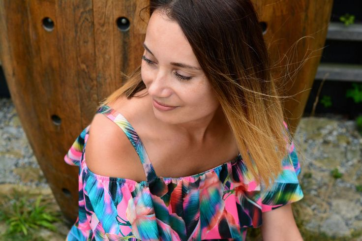 My Tropical Floral Print Frill Top | Chic Cocktail