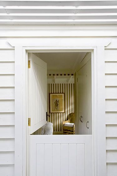 Dutch door - I have an affinity for these. It reminds me of when I was in the nursery at church. Laundry room door?