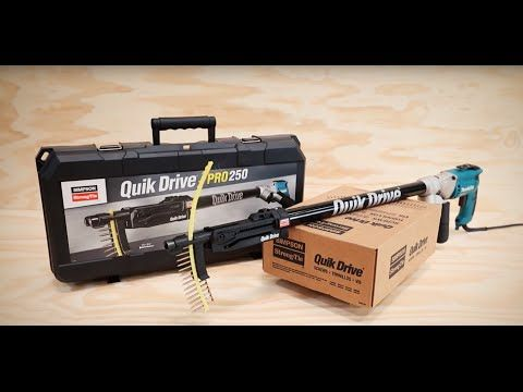 Quik Drive® vs Pneumatic Fasteners - YouTube
