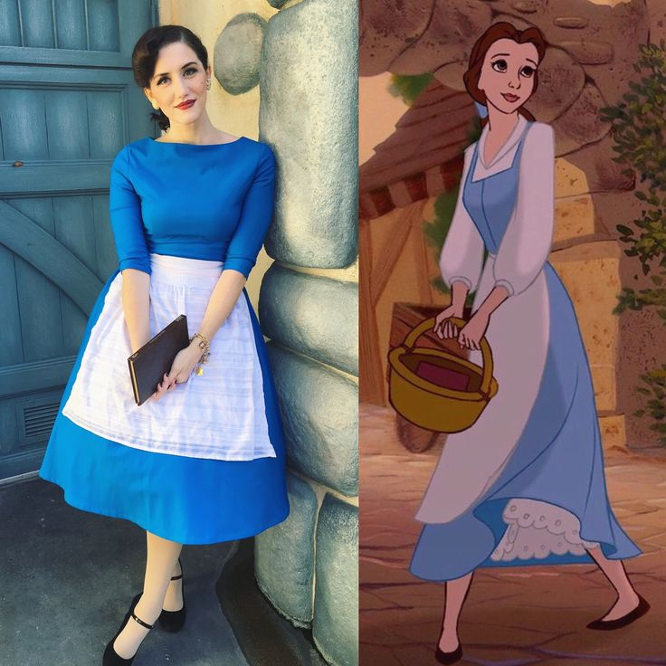 Belle Beauty and the Beast provincial Disneybound inspired pinup retro 1950's style Disneyland