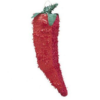 This Chilli Pepper Mexican piñata is a must have for your next fiesta party.
