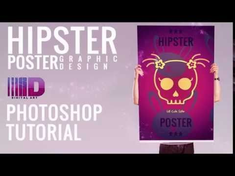 Photoshop class - Create a simple hipster poster flyer - Photo Manipulation Tutorials - Photoshop classes