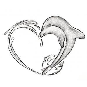 I hate dolphins, (Yes, I know I'm going to go to hell for that probably.) but I'd love to do this tat with a shark.