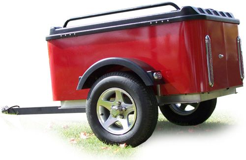 Little Cargo Trailer - This would be a stylish way to get out of town in a hurry. I have a small car, so I'd like to have a small cargo trailer, not just for emergency prep, but for camping and travel.