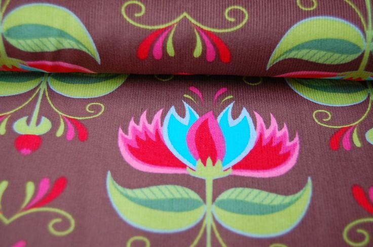 Stenzo Stoff Feincord gr. Blume 565 A von Wunschstoffe auf DaWanda.com