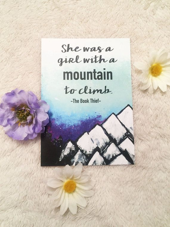 Inspirational quote wall art Mountain quote Art by TheBirdofSummer