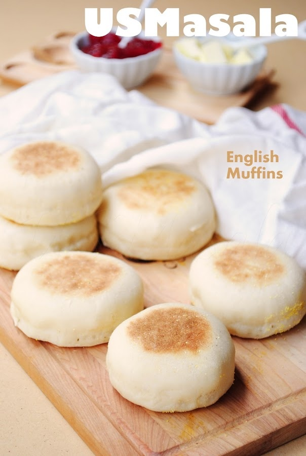 An easy recipe for homemade English muffins, a lot cheaper, tastier and ready in an hour! : US Masala