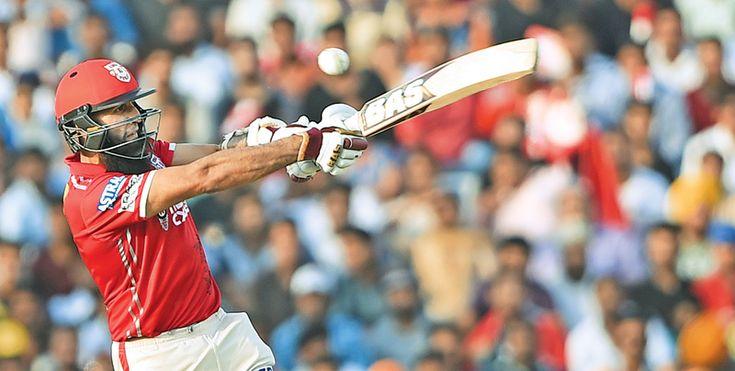 Kings XI Punjab cricketer Hashim Amla plays a shot during the 2017 Indian Premier League (IPL) Twenty20 cricket match between Kings XI Punjab and Delhi Daredevils at The Punjab Cricket  Association Stadium in Mohali on April 30.  AFP