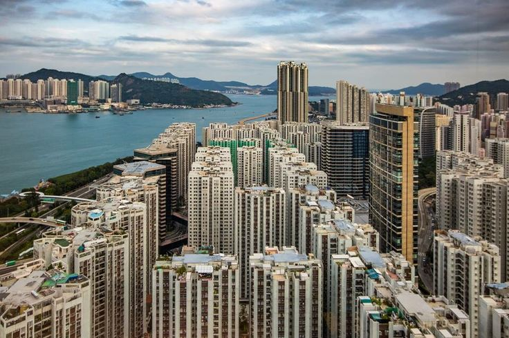 """Hong Kong. Quarry Bay. CNN's Asia-Pac HQ is here.  Welcome to my """"laborhood.""""  (drone pic by Kamil Przybylak)"""