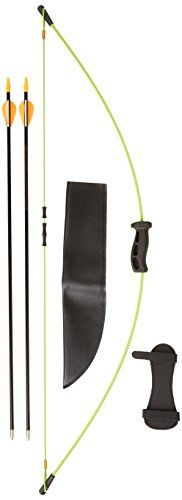 The Bear Archery Youth 1st shot bow set is great for our Suggested age range of 4 years to 7 years. The set includes 2 safety glass arrows armguard arrow quiver finger tab and a target....