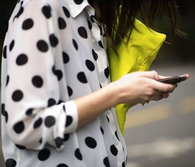 Street style - Mixingassic polka dot print with neon