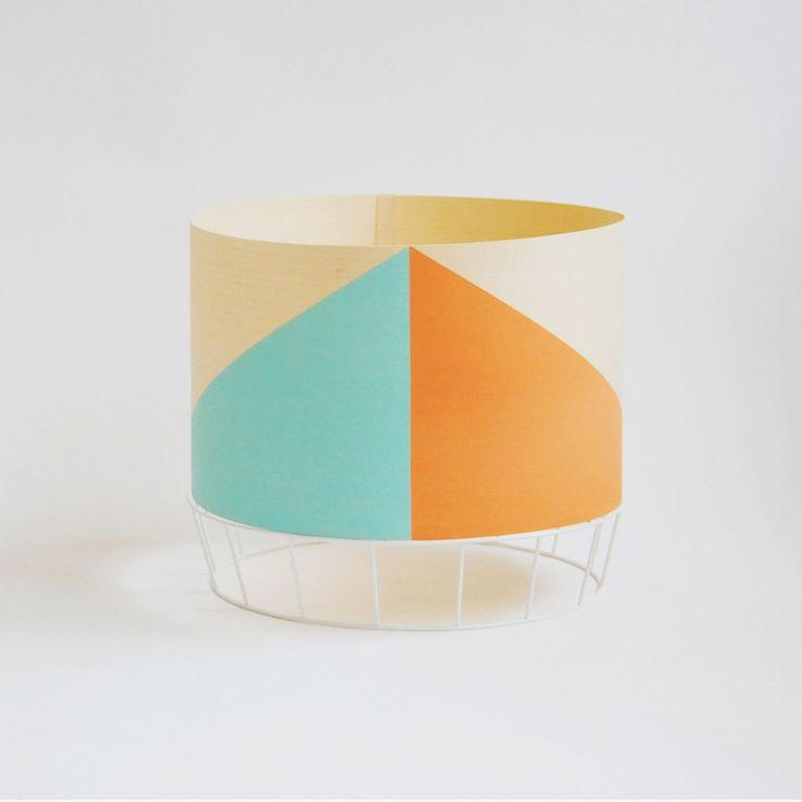 sea green and orange large table lamp