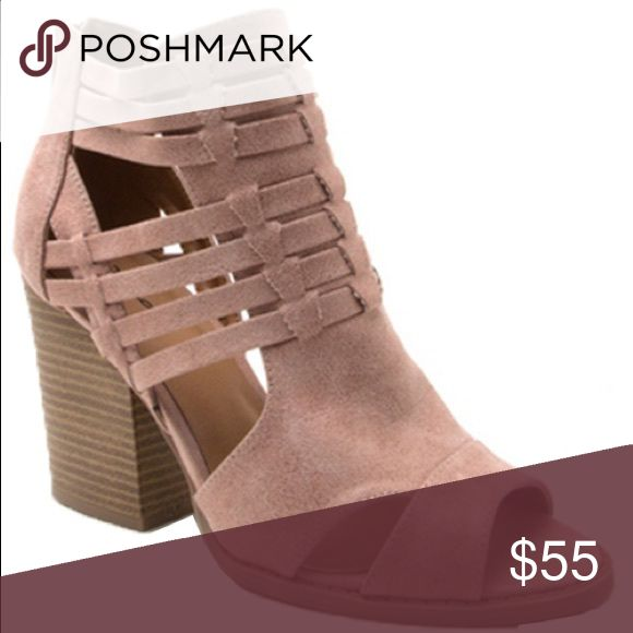 Ladies high top peep toe sandal. Plush color. NIB Very stylish, super comfy with fashionable look and color. 3 inches Chunky heels, back zipper. Plush color. True to size. Brand new in box. NO TRADES shoeroom21 boutique Shoes Ankle Boots & Booties