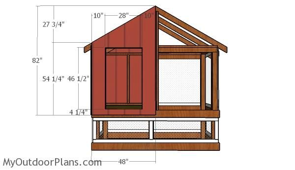Fitting The Front And Back Panels Roof Plan Diy Shed Wooden Playhouse