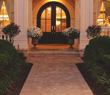 brikstone paver sidewalk hardscape