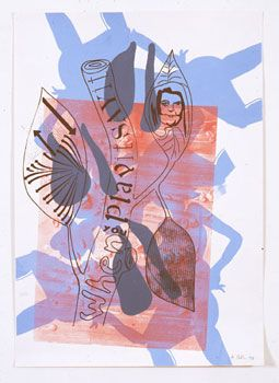 Albert Oehlen, <i>Untitled</i>, 1990 Silkscreen on paper 39.37 x 27.56 inches; 100 x 70 cm