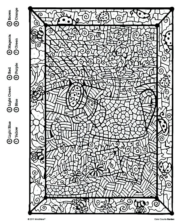 MindWare Color by Number Printables Coloring pages for