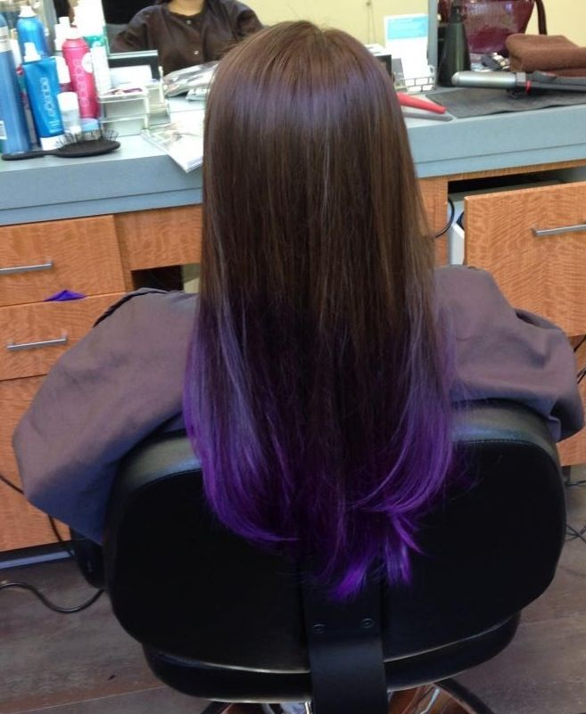 purple and brown ombre | dark brown to purple ombré