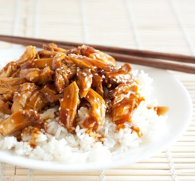 Slow Cooker Chicken Teriyaki -- Serve this simple to prep dish with rice, sesame seeds and diced fresh pineapple. #CrockPot #SlowCooker #recipe
