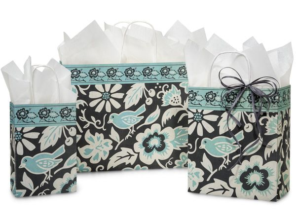 Morning Melody Paper Shopping Bags from Nashville Wraps!