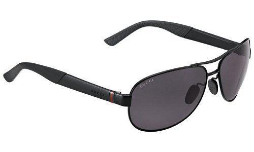 Gafas de sol Gucci Semi Mate Negro, Lente polarizada 63mm GG2225/S  | Antes: $1,830,000.00, HOY: $520,000.00