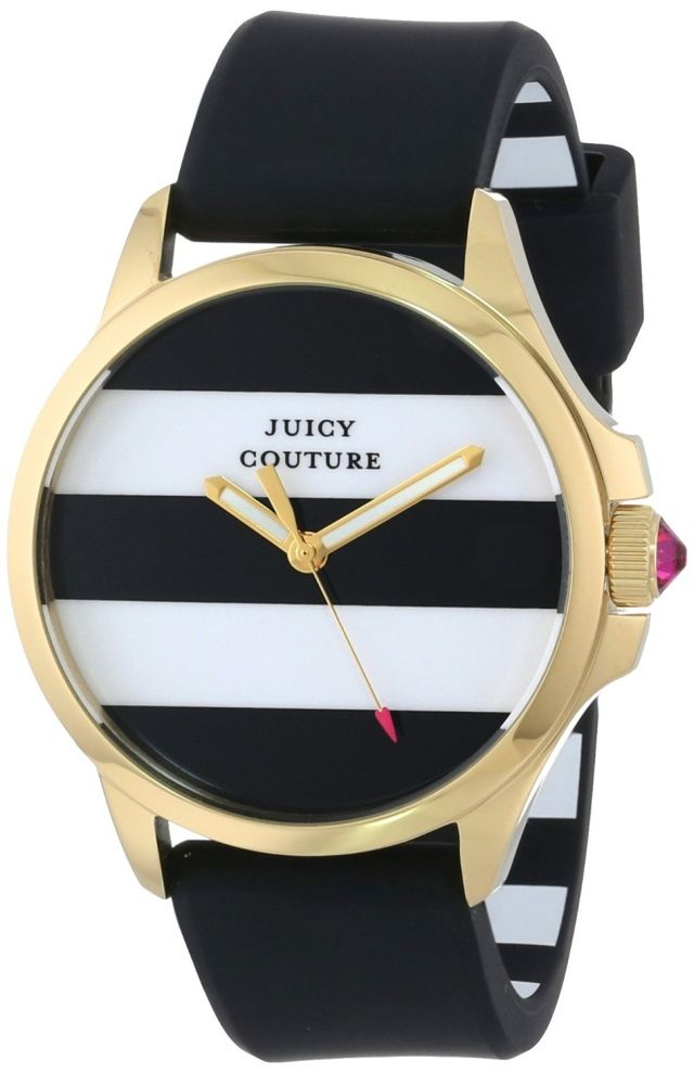 Juicy Couture Women's 1901098 Jetsetter Black and White Stripe Dial Watch: Watches: Amazon.com