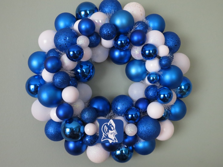 DUKE BLUE DEVILS Ornament Wreath. $58.00, via Etsy.