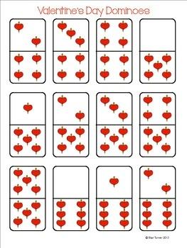 Valentine's Day Dominoes Freebie