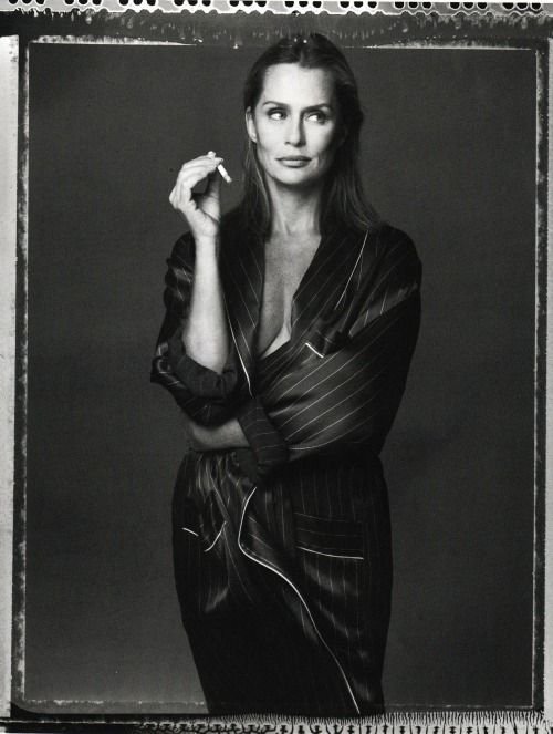 Vogue Italia December 1993 Lauren Hutton by Steven Meisel and...