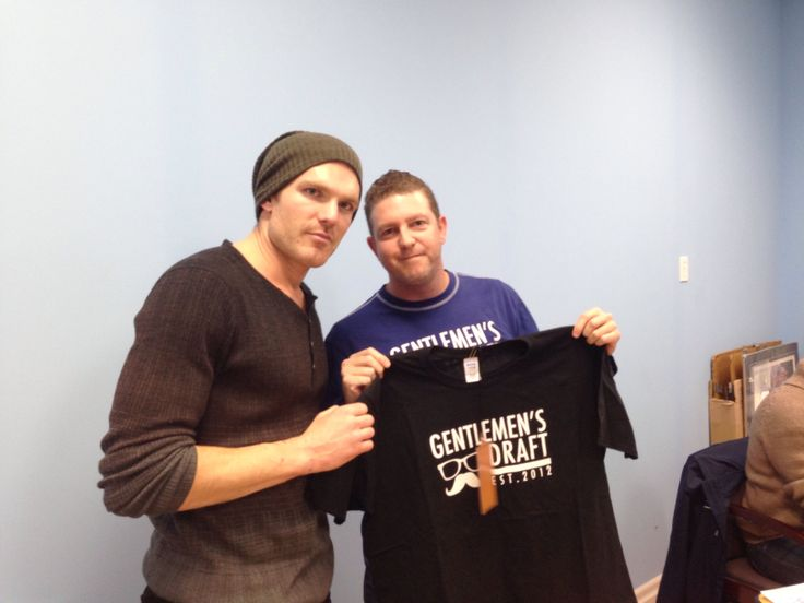 David Clarkson of the Toronto Maple Leafs loves his Gentlemen's Draft Shirt.  Check out Gentlemen's Draft Clothing at https://www.facebook.com/GentlemensDraft   $2 from each item sold is donated to prostate cancer research.  Join us in  helping to fight cancer, one shirt at a time.   Stay classy like never before with our signature moustache and glasses logo on our custom designed threads.   Also check us out on: Instagram - gentlemens_draft