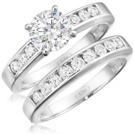 Channel Set Diamond Engagement Ring Setting