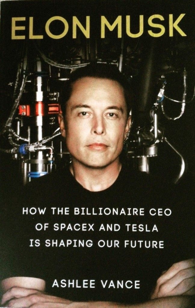 Elon Musk Book by Ashlee Vance. Check it out. IT is worth reading to get an inside look at a person who is trying to change the world for the better.
