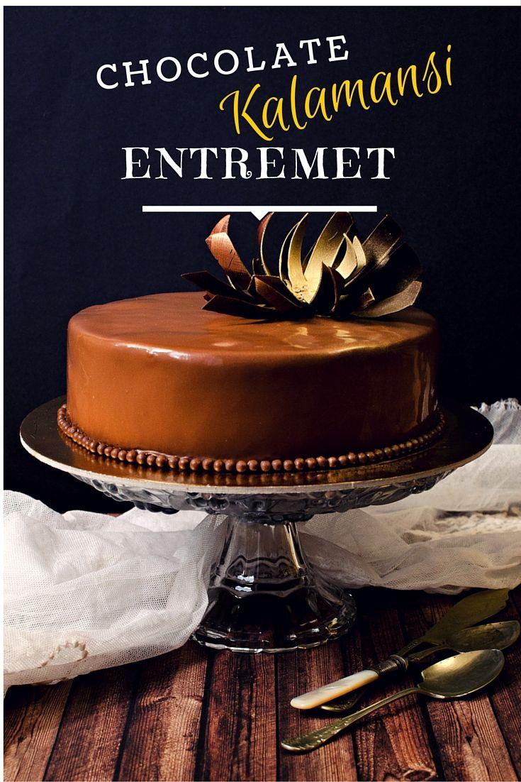 Chocolate Kalamansi Entremet www.pastry-workshop.com #desserts #cakes #pastrychef #pastryworkshop