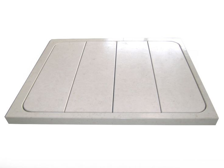 Shower tray base slabs in white marble BIANCONE.
