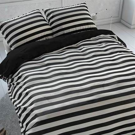Black&White Bedding. Sleeptime Theun dekbedovertrek #zwart-wit #strepen