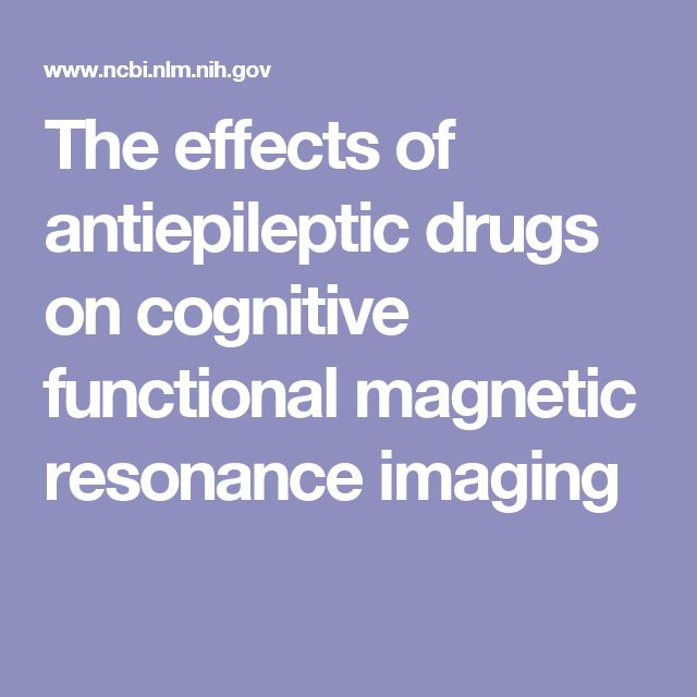 The effects of antiepileptic drugs on cognitive functional magnetic resonance imaging