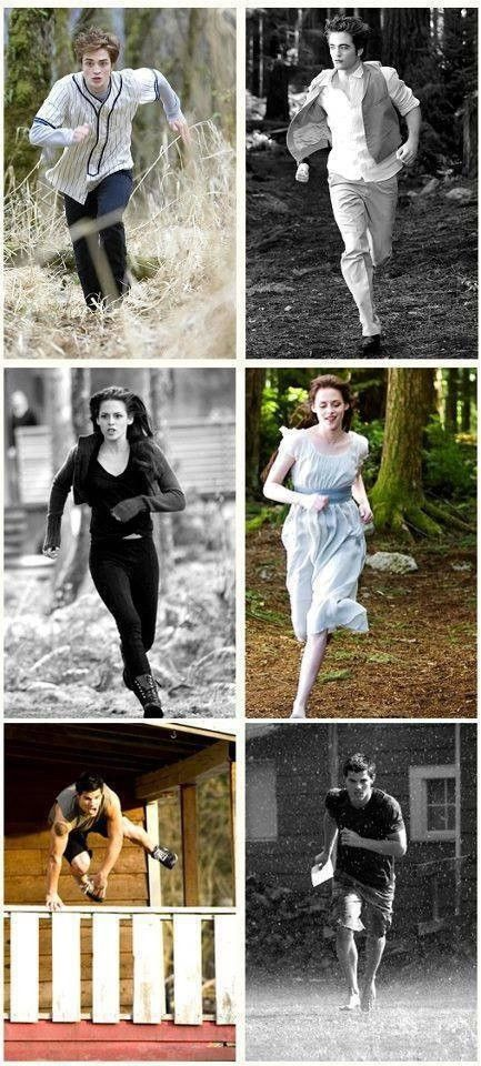 Runing Edward, Bella and Jacob