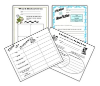 Set of 4 graphic organizers that can be used with any picture book.